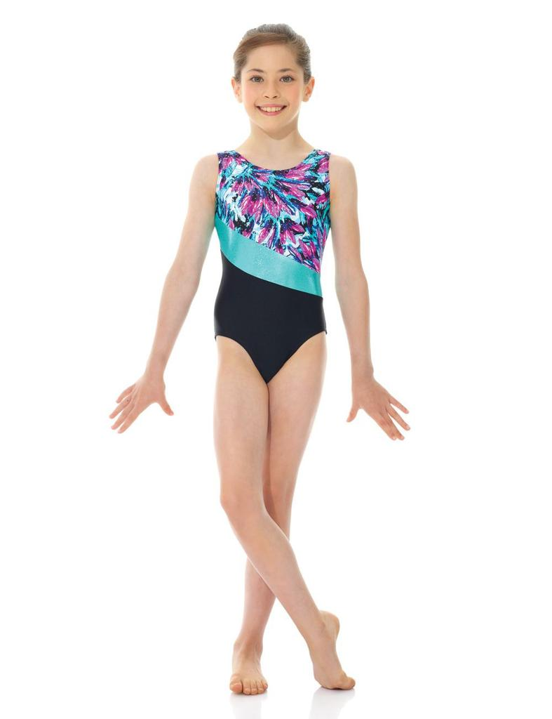 Printed and Solid Gymnastics Leotard - Child