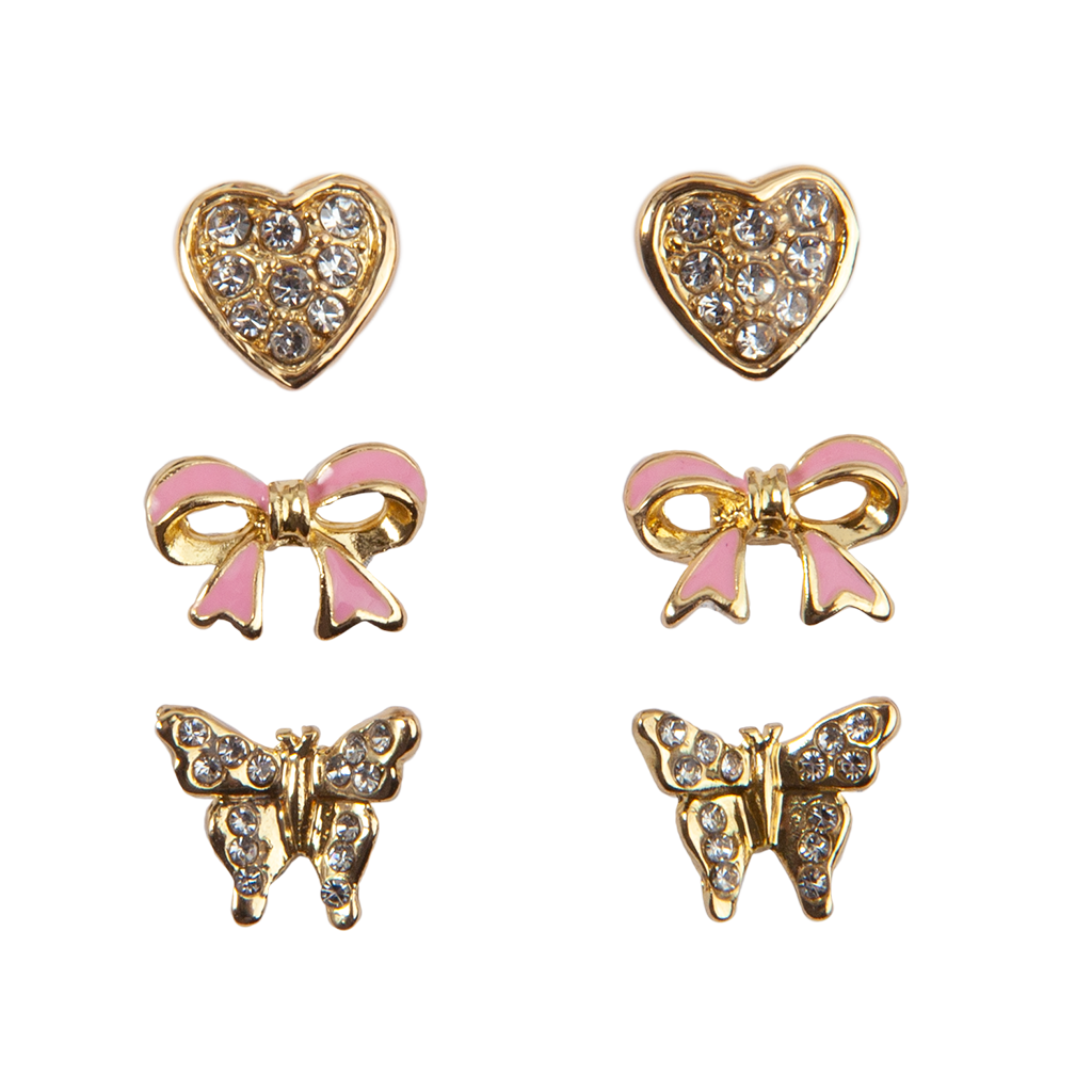 Boutique Dazzle Studded Earrings (3 Sets)