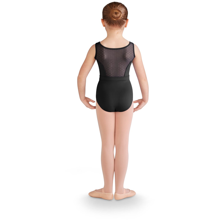Daisy Mesh Overlay Tank Leotard - Child