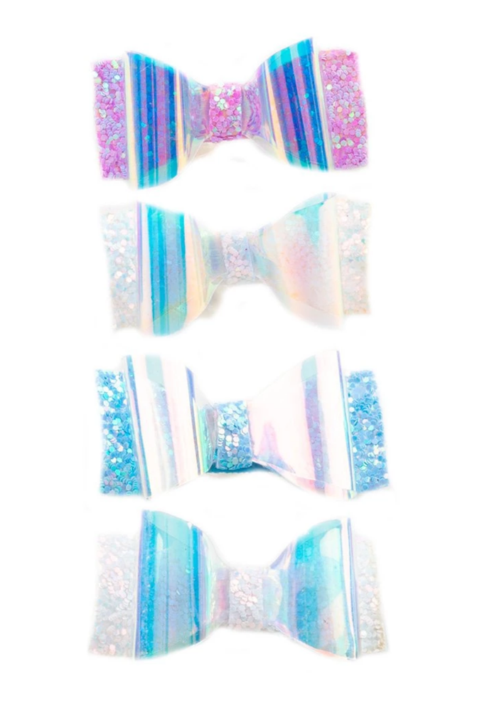 Glow Bow Hair Clips