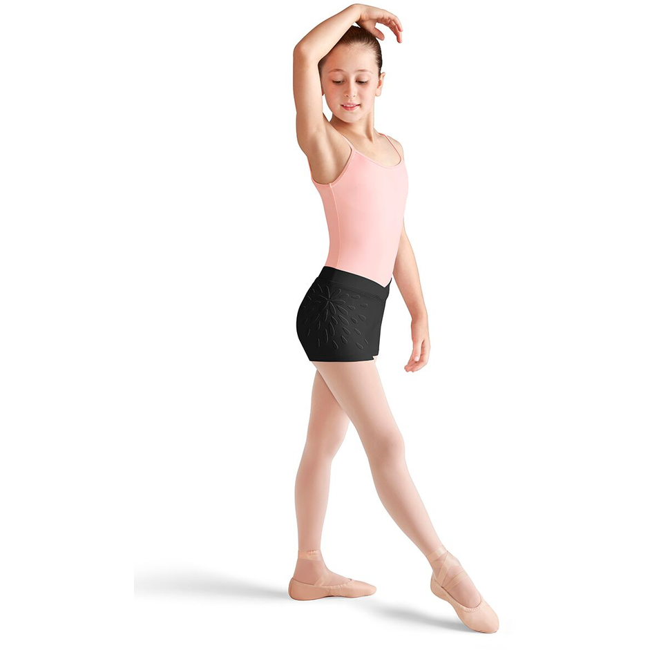 Floral Applique V Waist Shorts - Child