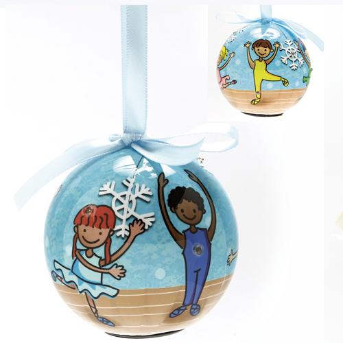 Blinking Ballet Ornament