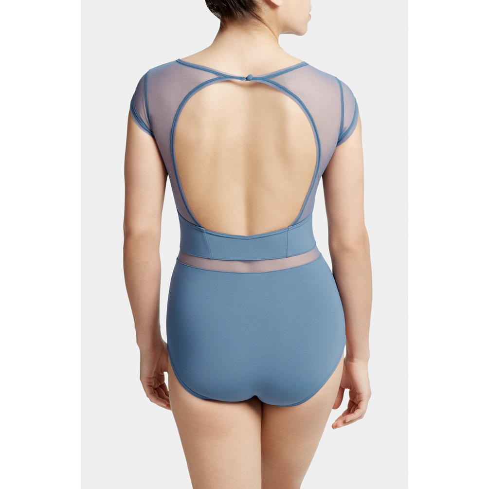 Cap Sleeve Leotard with Mesh Cutouts - Child