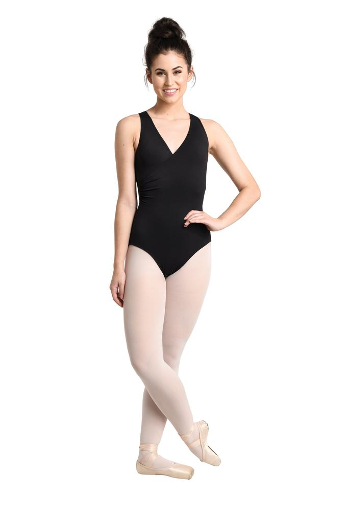Wrapped Up Leotard with Lace Back - Adult