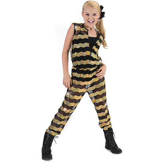 Sequin Stripe Jumper - Inspirations Dancewear - 2