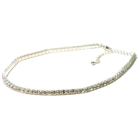 Single Row Choker - Clear - Child