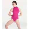 Mock Neck Mesh Accent Leotard