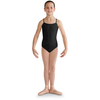 Vertical Strap Back Floral Applique Leotard - Child