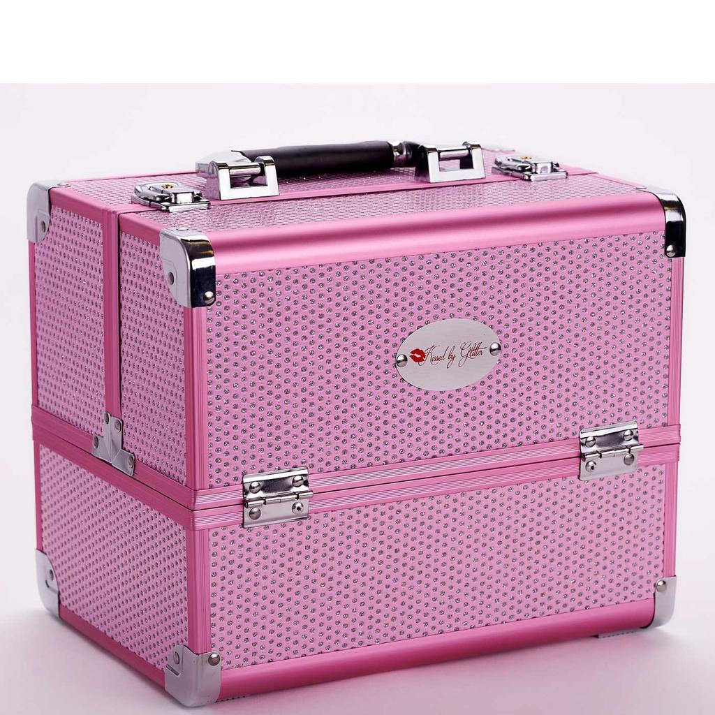 Light Pink Diamond Makeup Case