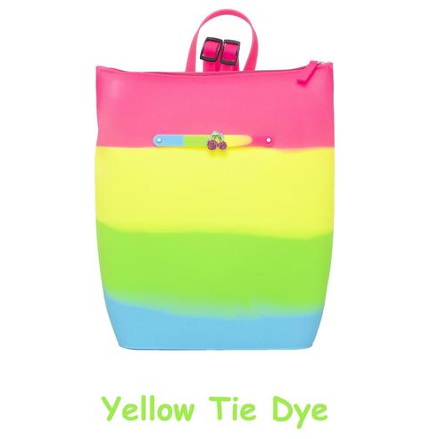 Yummy Scented Backpack - Yellow Tie Dye, Pink Lemonade Scent