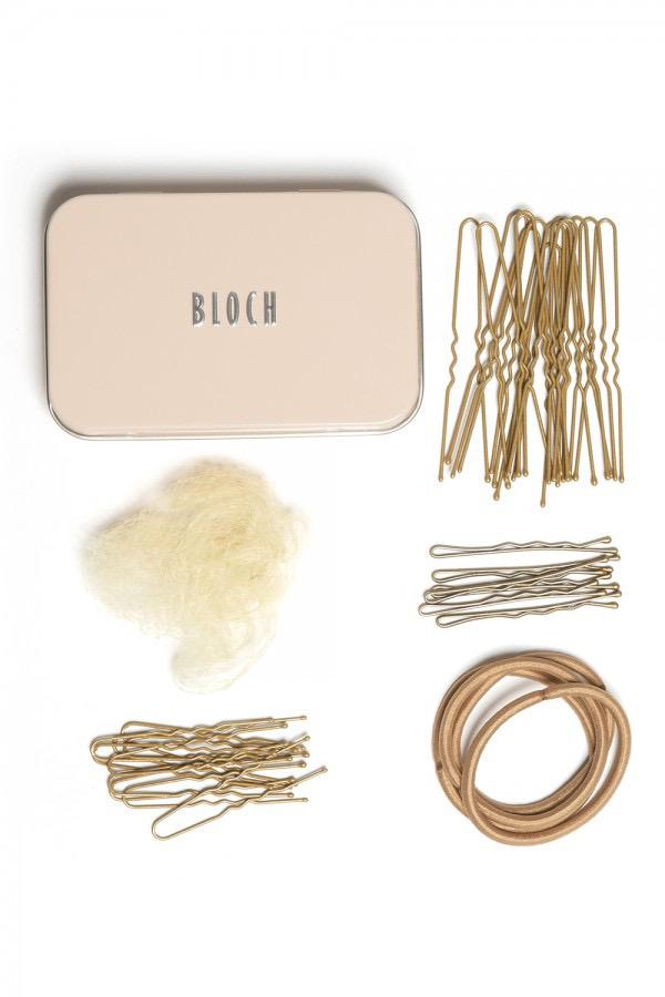 Hair Kit with Bun Pins, Elastics and Hair Nets - Blonde