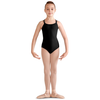 Double Strap Cross Back Bow Mesh Leotard - Child
