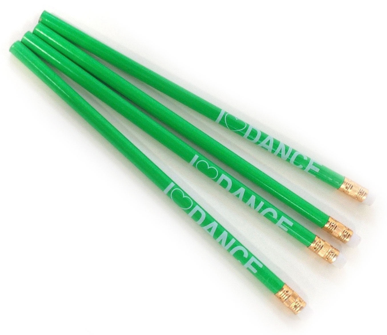I Love Dance Pencils - Green