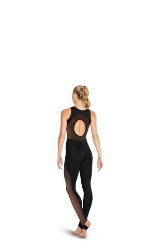 Mesh Panel Stirrup Unitard - Adult