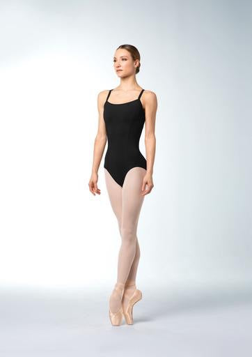 Princess Seam Stripe Mesh Back Leotard - Adult