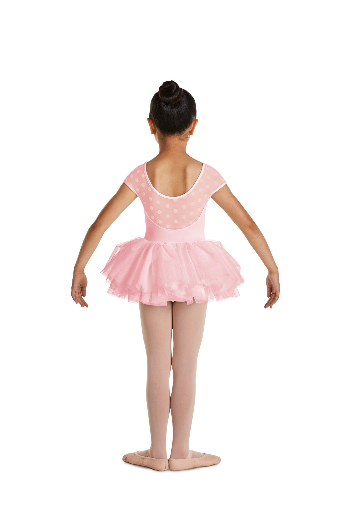Polka Dot Cap Sleeve Tutu Dress - Child
