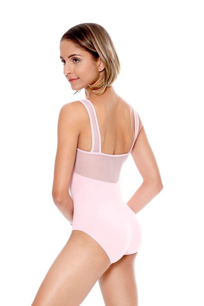 Wide Mesh Strap Leotard - Adult
