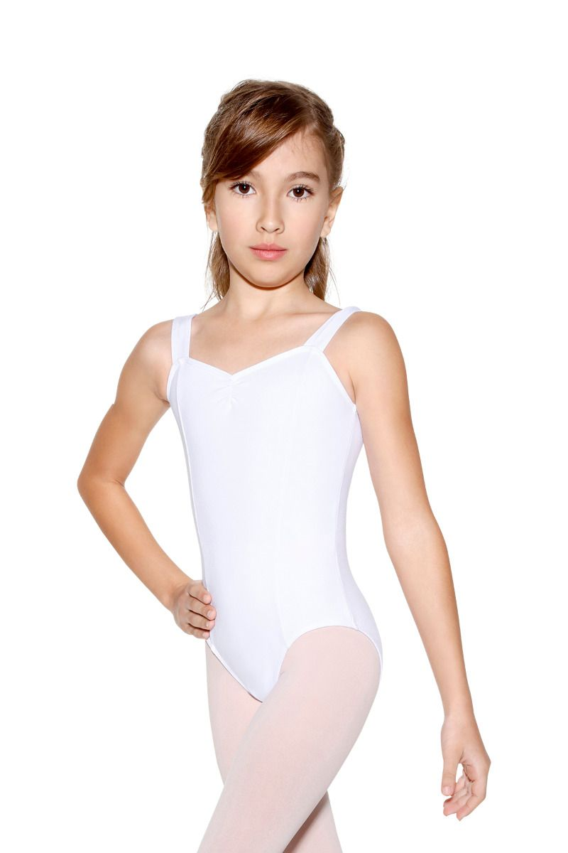 Wide Strap Leotard with Pinch Front - Child