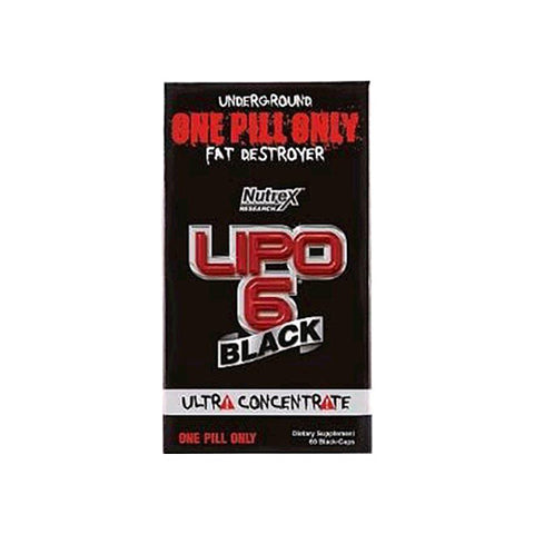 Nutrex Lipo 6 Black Ultra Concentrate 60 Black Capsules