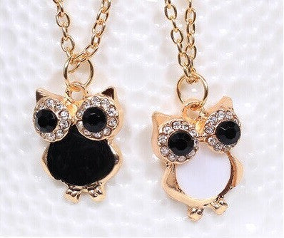Vintage Retro Shell Owl Necklace