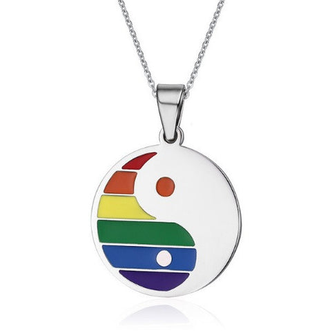 Multiple Shapes Rainbow Necklace