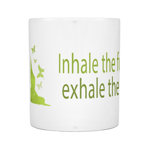Inhale Yoga Mug