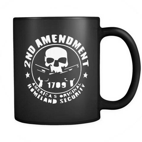 2nd Amendment Black Mug
