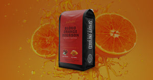 Blood Orange Bourbon Infused Coffee, Coffee Bag