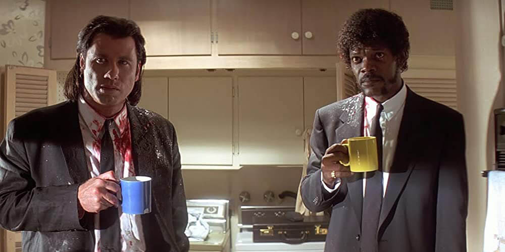Pulp Fiction coffee movie scene