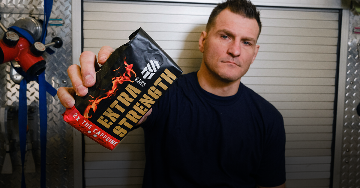 "Stipe Miocic Extra Strength Coffee. Fit for ""The Baddest Man on the Planet"""