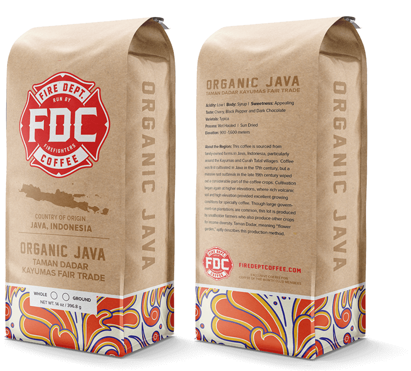A bag of FDC's Coffee of the Month Club single origin beans