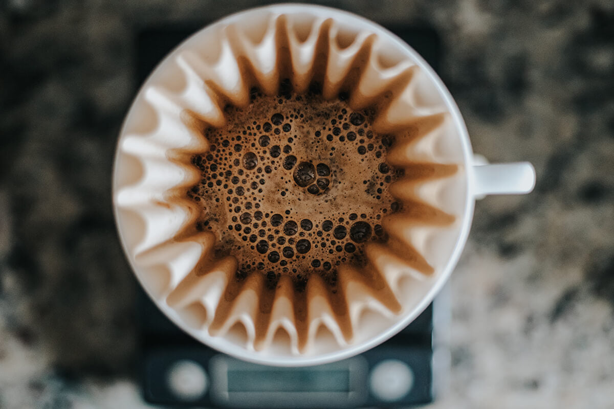 A Kalita Wave, one of the best small coffee makers