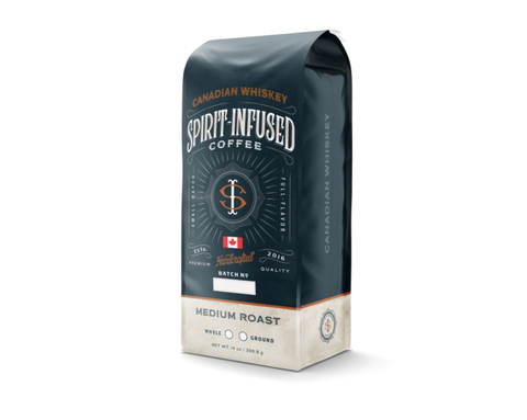 Canadian whiskey infused coffee