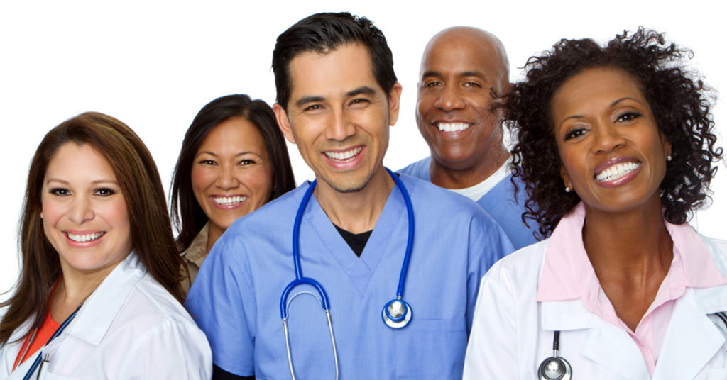 Group of nurses and medical professionals.