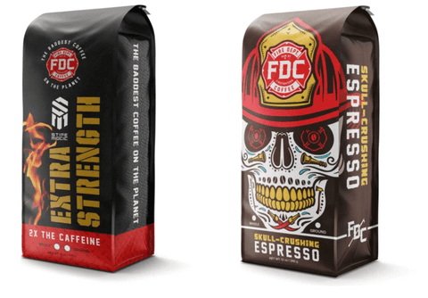 Fire Dept Coffee's extra caffeinated blends to make stronger coffee