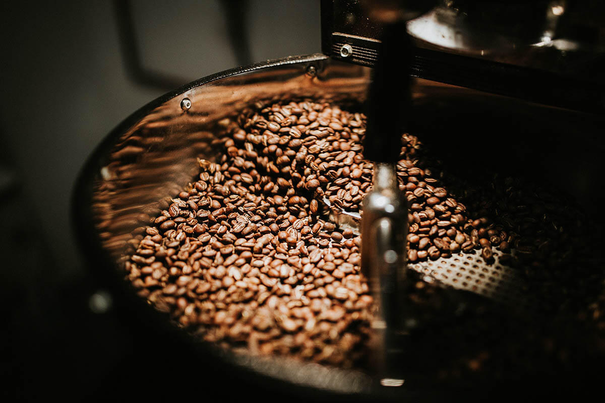 Freshly roasted coffee beans for our coffee subscription box