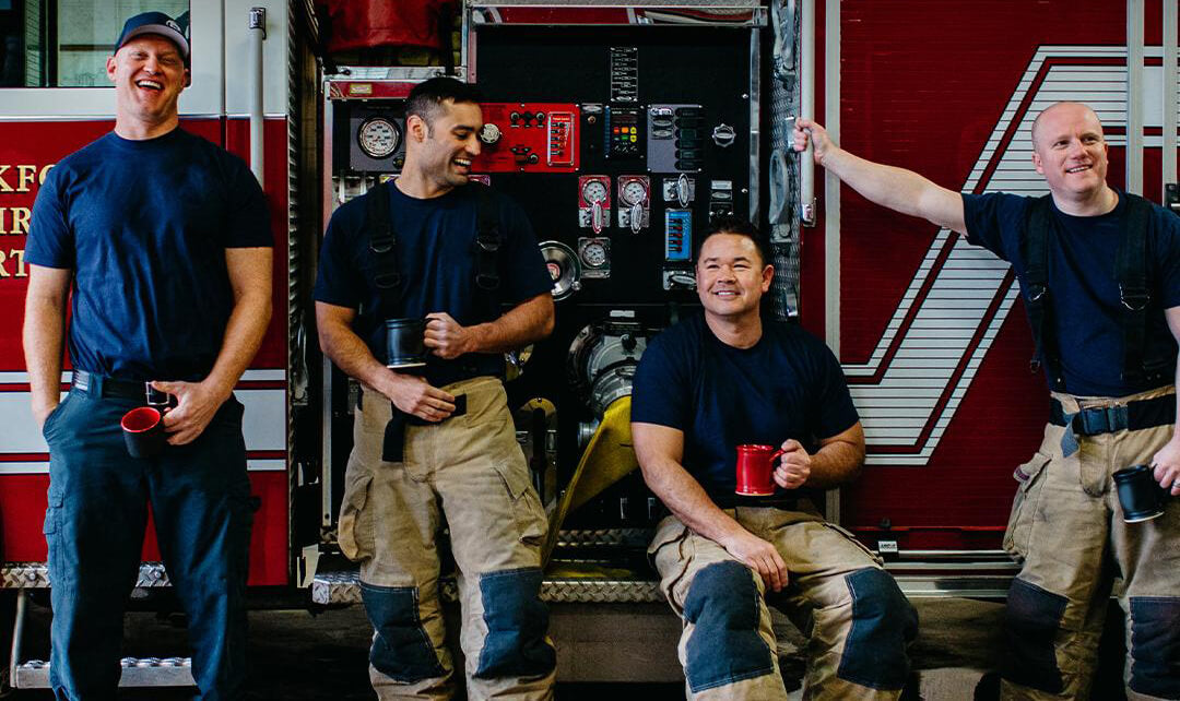 Part of the Fire Dept. Coffee team
