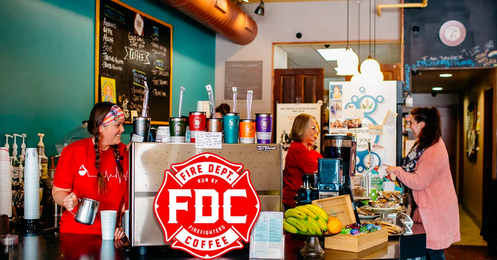 Wired Cafe of Rockford, IL proudly serves Fire Department Coffee