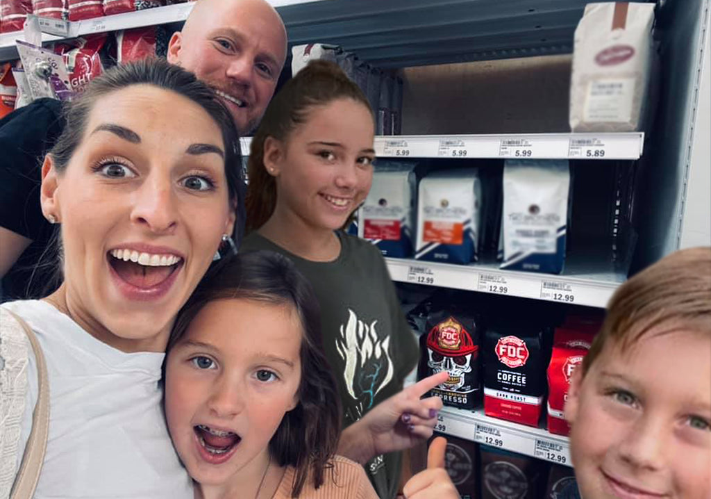 Luke Schneider and Family at Rockford, IL Meijer
