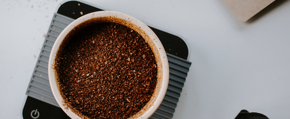 Some coarse grounds needed to make French press cold brew coffee