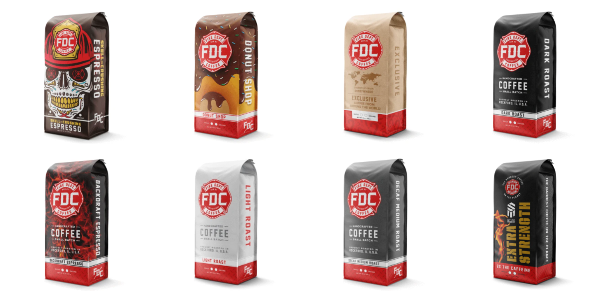 Some of Fire Dept. Coffee's blends, perfect to start drinking coffee black