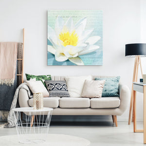 No Mud No Lotus Canvas Wall Art
