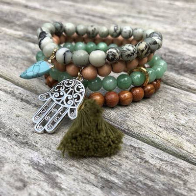 Compass Gem Stack Bracelet Jewelry Faire – Wonderlust & Zeal Seeker