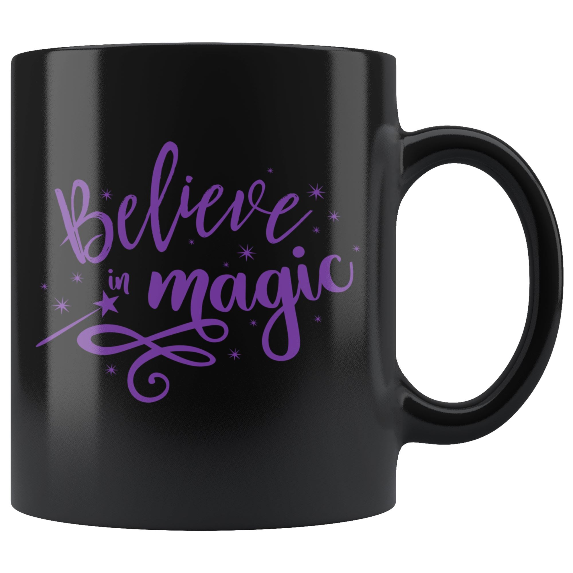 Believe in Magic • 11oz. Black Mug Drinkware teelaunch Believe In Magic