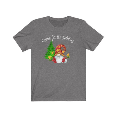 Gnome For The Holidays • Unisex T-shirt T-Shirt Printify Deep Heather XS