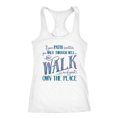 Walk Through Hell • Women's Tank Top T-shirt teelaunch White XS