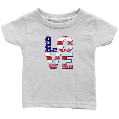 Patriotic Love • Toddler Tees T-shirt teelaunch White 6M