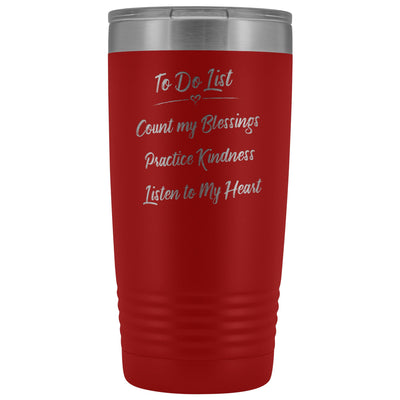 To Do List • 20oz Insulated Coffee Tumbler Tumblers teelaunch Red