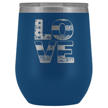 Patriotic Love Engraved 12oz. Wine Tumbler