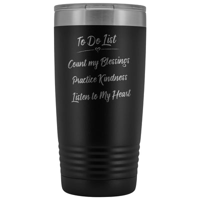 To Do List • 20oz Insulated Coffee Tumbler Tumblers teelaunch Black